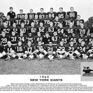 NEW YORK GIANTS- 1962 EASTERN DIVISION CHAMPIONS