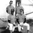 SF GIANTS- VIDA BLUE, JOHN MONTEFUSCO, JIM BARR, 11x14