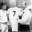NY YANKEES: BOBBY MURCER-MANTLE RETIRES #7 - 11x14 SIZE