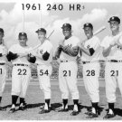 NEW YORK YANKEES-MANTLE-MARIS-1961 MURDERERS ROW 11x14