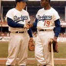 BROOKLYN DODGERS- PEE WEE REESE & JIM GILLIAM