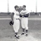 BROOKLYN DODGERS- ERSKINE & CAMPY AT ROOSEVELT STADIUM