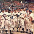 BROOKLYN DODGERS- NEWCOMBE,ROBINSON,REESE- BATTING CAGE