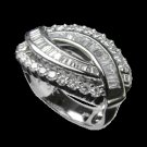 1.44 Cts. Diamond 18k White Gold Ring