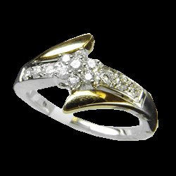 0.30 Cts. Diamond 14k Dualtone Gold Ring