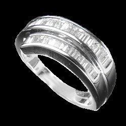 0.85 Cts. Diamond 18k White Gold Ring