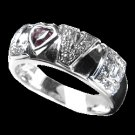 0.23 Cts. Diamond and Sapphire 18k White Gold Ring