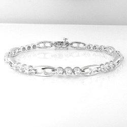 0.94 Cts. Diamond 18k White Gold Bracelet
