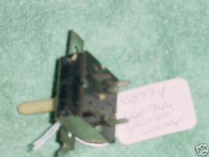 WHIRL KENMORE DRYER TEMP SELECTOR SWITCH 358934 660746
