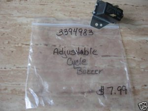 WHIRLPOOL DRYER BUZZER CYCLE SIGNAL SWITCH 3394983