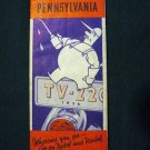 Vintage 1936 Pennsylvania Tydol Trails Road Map