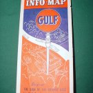 Vintage 1936 Gulf Gasoline Boston & Vicinity Rand McNally. Massachusetts, Connecticut, Rhode Island.