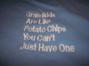 Grandpa  Grandma T shirt Custom Embroidered NWOT