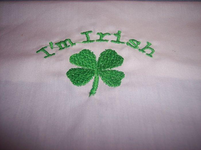 I'm Irish Custom Embroidered Childs T Shirt