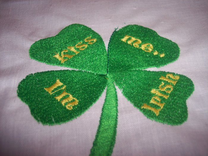 Kiss me I'm Irish Custom Embroidered T Shirt childs
