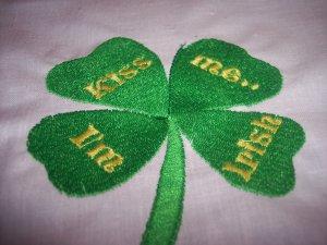 Kiss me I'm Irish Custom Embroidered T Shirt childs