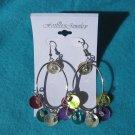metallic dangle earrings
