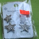 crystal star earrings - 2 pair
