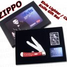 Elvis Presley Zippo Lighter and Case Knife Gift Set
