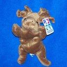 "Alaska Friends Bean Bag Stuffed Moose 9"" Long Mint Tags"