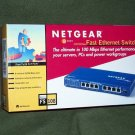 Netgear 8 Port Fast Ethernet Switch FS108NA New In Box