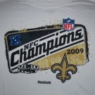 2009 New Orleans NFC Champs Shirt Size M Reebok