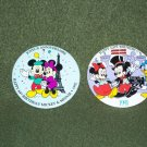 Mickey & Minnie Birthday pins - TWO - 1991 & 1992