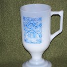 Las Vegas Trinken Alpine Village Footed Mug Milk Glass