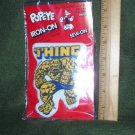 Vintage 1980 Marvel The Thing Iron-On Iron On Patch