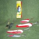 Vintage Fishing Lures Lot of 7 Spoons New Hofschneider