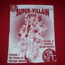 Rare Super Villain Comic Issue 1 Shirt Cpt. America