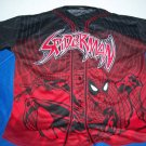 Rare Button Up Embroidered Spiderman Shirt Adult L