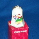 Lillian Vernon 1988 Christmas Bell Porcelain Ornament