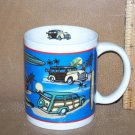 Classic Woody Car Coffee Mug Hawaiian Design Mint Cond