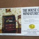 Vintage 1977 House of Miniatures Chippendale Desk NIB