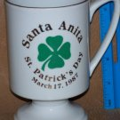 Vintage 1987 Santa Anita St Patricks Day Footed Mug