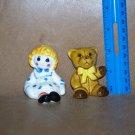 Raggedy Ann & Teddy Weiss Avon Salt & Pepper Handpaint