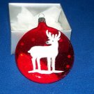 Museum of Modern Arts MOMA Red Reindeer Ornament MIB