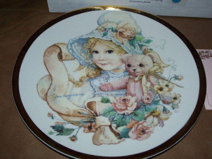 Jan Hagara Ltd 242/5000 Signed #1 Series Plate Hannah