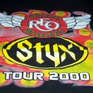 2000 Styx and REO Speedwagon Tour Shirt Size L