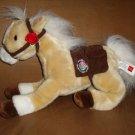 2010 Wells Fargo Pony Horse LIGHTNING Tan & White Plush