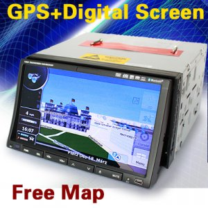 7'' 2 Din Digital Screen GPS Car DVD Player Bluetooth TV Tuner  Radio RDS-E92
