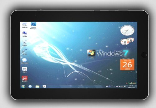 10 Inch Super Slime Windows 7 Tablet PC with Multi-Touch Screen, 1.66GHz CPU, Webcam