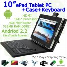 "10"" Android 4.0 ePad Tablet PC 512 HDMI WiFi 4GB Case+Keyboard"