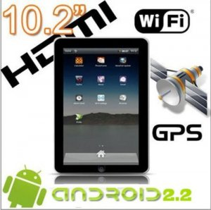 "Superpad 10.2"" Tablet PC, Google Android 2.3, camera, GPS, HDMI, USB, WIFI,micro SD card"
