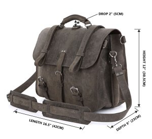 Crazy Horse Leather Men's Briefcase Backpack Travel Bag Hug bag-7072J