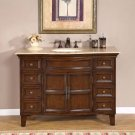 "48"" Pathenia - Stone Top Single Sink Bathroom Vanity Cabinet Dark Walnut Finish 0154"