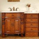 """53"""" Teresa - Cream Marfil Marble Stone Top Bathroom Single Sink Vanity Cabinet 0204"""