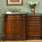 """53"""" Monica - Granite Top Single Sink Bathroom Vanity Cabinet Stone + Drawer Bank 0206"""