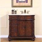 "36"" Victoria - Off Center Right Sink Marble Top Bathroom Single Vanity Cabinet 0213"